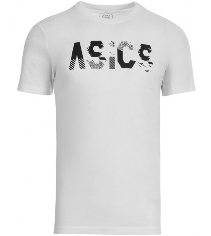 Тениска ASICS MEN'S Seasonal Logo SS TOP PEACOAT WHITE /БЯЛА/