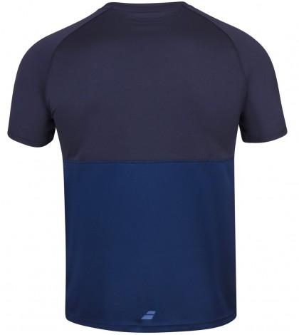 Мъжка Тениска Babolat Men's PLAY CREW T-SHIRT Estate Blue/Navy/ 3MP1011-4000
