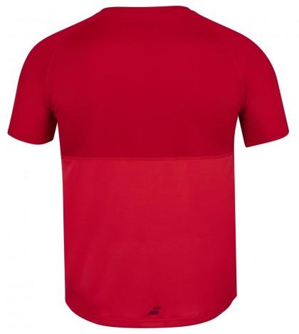 Мъжка Тениска Babolat Men's PLAY CREW T-SHIRT Tomato Red 3MP1011-5027