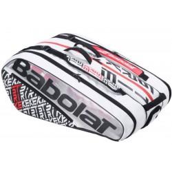 Тенис сак Babolat Pure Strike X 12 White/Red/Black 2020 /Доминик Тийм/
