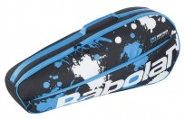 Тенис сак BABOLAT RACKET HOLDER ESSENTIAL X3 CLUB LINE Black/White//Blue /Черно-Бял/ 751202-164