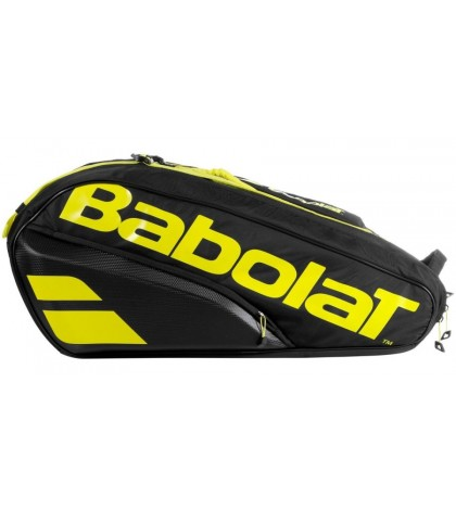 Тенис сак Babolat PURE AERO X12 BAG YELLOW/BLACK 2021 (НАДАЛ, ЦОНГА, ПЕР) 751211-142