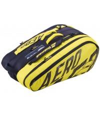 Тенис сак Babolat PURE AERO X12 BAG YELLOW/BLACK 2021 (НАДАЛ, ЦОНГА, ПЕР) 751211-142
