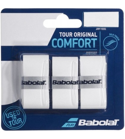 Допълнителен грип BABOLAT TOUR ORIGINAL X3 WHITE OVERGRIP /БЕЛИ/