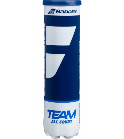 Топки за тенис Babolat TEAM All Court 4 Balls Can 502081