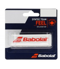 Основен грип BABOLAT SYNTEC TEAM GRIP 1 PACK WHITE/RED /БЯЛ-ЧЕРВЕН/