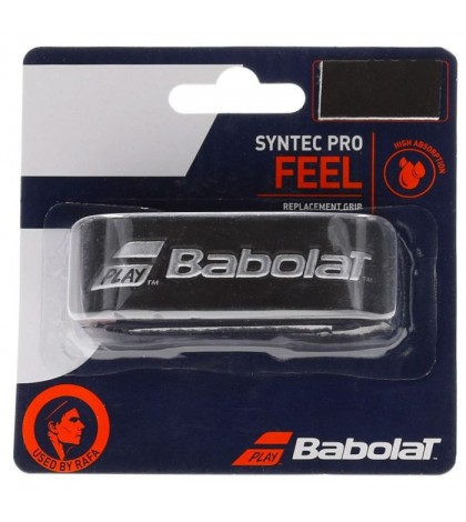 Основен грип BABOLAT SYNTEC PRO GRIP 1 PACK BLACK/SILVER