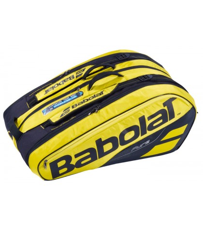 Тенис сак Babolat Racket Holder X12 PURE LINE YELLOW/BLACK  2019  НАДАЛ, ЦОНГА, ПЕР 751180