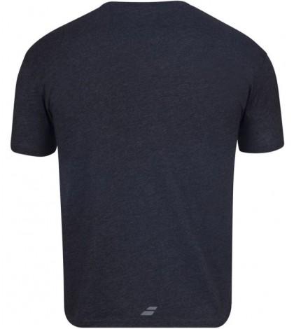 Тениска Babolat EXERCISE BIG FLAG T-shirt Men (Black Heather) 4MS20442-2003