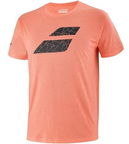 Тениска Babolat EXERCISE BIG FLAG T-shirt Men (Living Coral Heather) 4MS21442-6012