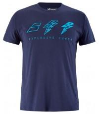 Мъжка Тениска Babolat Men's Drive Cotton T-Shirt (Drive Blue) 4US21441X-4086