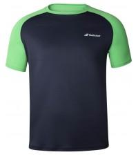 Детска Тениска Babolat Boy's PLAY CREW T-SHIRT Peacoat/Poison Green 3BTA011-4050