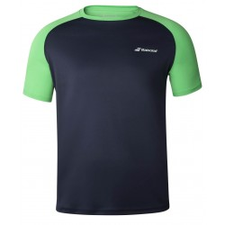 Мъжка Тениска Babolat Men's PLAY CREW T-SHIRT Peacoat/Poison Green 3MTA011-4050