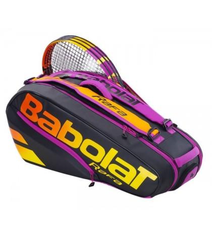 Тенис сак Babolat PURE AERO RAFA X6 BLACK/ORANGE/PURPLE 751216-363
