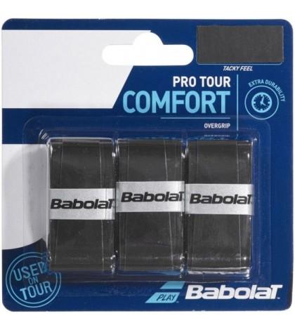 Допълнителен грип BABOLAT PRO TOUR OVERGRIP 3 PACK BLACK /ЧЕРЕН/