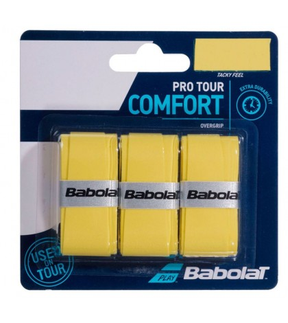 Допълнителен грип BABOLAT PRO TOUR OVERGRIP 3 PACK YELLOW /ЖЪЛТ/