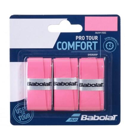 Допълнителен грип BABOLAT PRO TOUR OVERGRIP 3 PACK PINK /РОЗОВ/