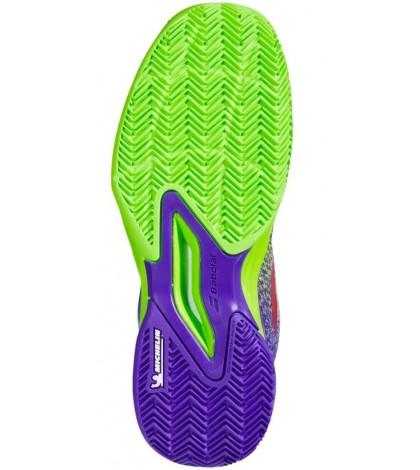 Детски тенис маратонки BABOLAT JET MATCH III CLAY COURT JUNIOR GREEN/PURPLE