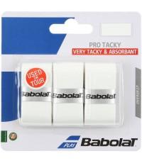 Допълнителен грип BABOLAT PRO TACKY OVERGRIP 3 PACK WHITE /БЯЛ/