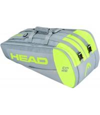 Тенис сак Head Core SuperCombi 9R GREY/NEON YELLOW 283391 GRNY