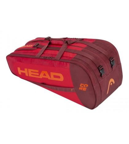 Тенис сак Head Core SuperCombi 9R RED/RED 283391 RDRD