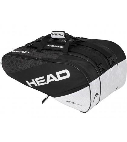 Тенис Сак HEAD ELITE 12R MONSTERCOMBI Black/White 283530