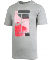 Тениска Nike Court Men's Swoosh T-Shirt Grey (Сива)