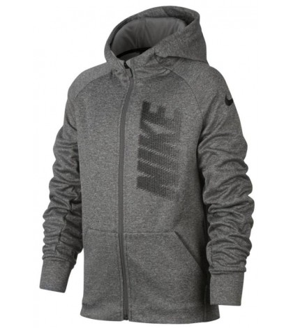 Детски Спортен Суичър Boys Nike Therma Hoodie FZ Dark Grey/Тъмно-сив/ 2017