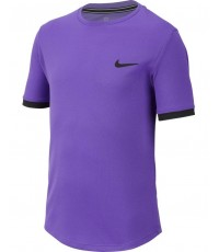 ДЕТСКА ТЕНИСКА NIKE BOYS DRY T-SHIRT PURPLE/BLACK /ЛИЛАВ/