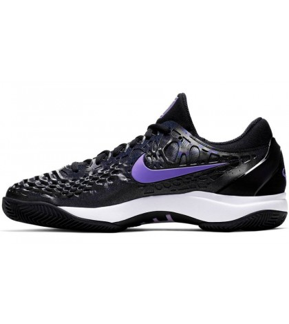 ТЕНИС МАРАТОНКИ NIKE MEN'S ZOOM CAGE 3 CLAY NADAL BLACK/PURPLE /РАФАЕЛ НАДАЛ/ 2019