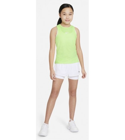 Детски потник Nike Girl's Dri-Fit Victory Tank Lime/White CV7573-345