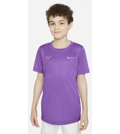 Детска Тениска Nike Boy's Dri-Fit Rafa T-Shirt Wild Berry (Лилав)