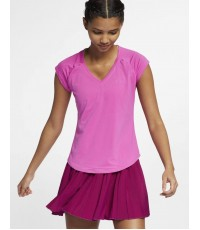 Дамска тениска NIKE COURT WOMEN PURE TOP ACTIVE FUCHSIA 728757-623