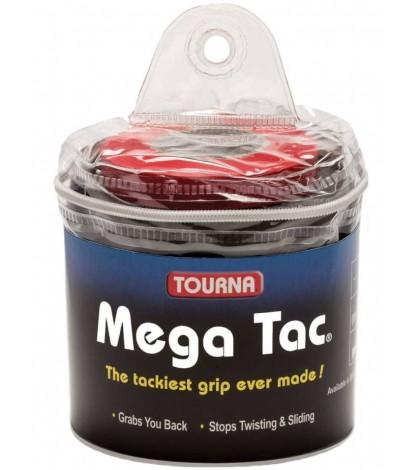 TOURNA MEGA TAC OVERGRIPS 30 Per Pack Black /Черен/