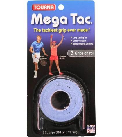 TOURNA MEGA TAC OVERGRIPS 3 Per Pack Blue /Син/