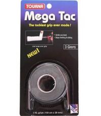 TOURNA MEGA TAC OVERGRIPS 3 Per Pack Black /Черен/
