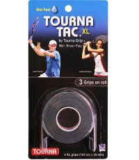TOURNA TAC XL OVERGRIPS 3 Per Pack Black /Черен/ David Ferrer, John Isner, Sam Querry