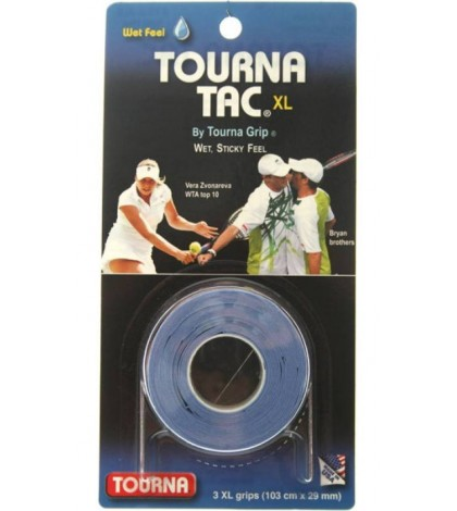 TOURNA TAC XL OVERGRIPS 3 Per Pack BLUE /СИН/ Karolina Pliskova, Victoria Azarenka, Vasek Pospisil