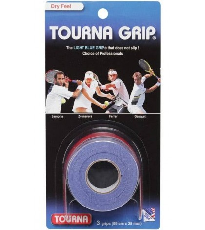 TOURNA GRIP ORIGINAL OVERGRIP 3 Per Pack Light Blue /Светло-Син/ Sampras, Dimitrov, Gasquet