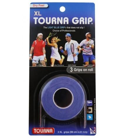TOURNA GRIP ORIGINAL XL OVERGRIP 3 Per Pack Light Blue /Светло-Син/ Ferrer, Anderson, Gasquet