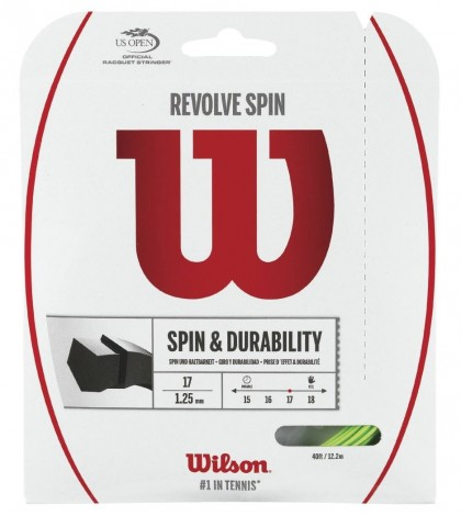 Тенис кордаж WILSON REVOLVE SPIN STRING SET GREEN/ЗЕЛЕН/
